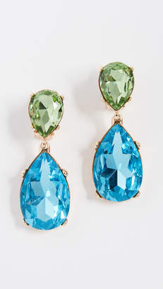 Kenneth Jay Lane Double Teardrop Clip On Earrings