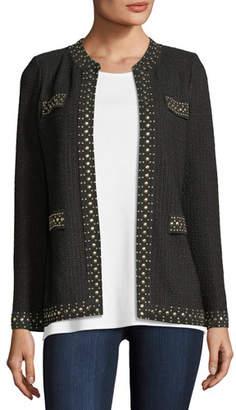 Misook Stud-Trim Knit Jacket