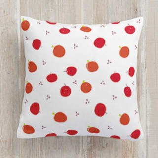 Apples and Oranges Square Pillow
