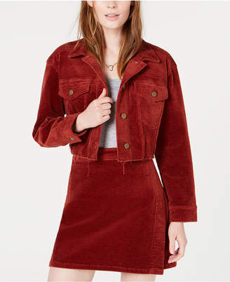 Tinseltown T.d.c. Topson Oversized Cropped Corduroy Jacket