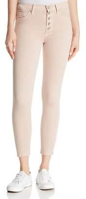 Hudson Barbara High-Rise Skinny Jeans in Blushing