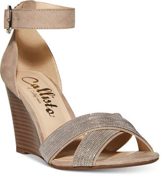 Callisto Montana Crisscross Wedge Sandals, Created for Macy's Women's Shoes