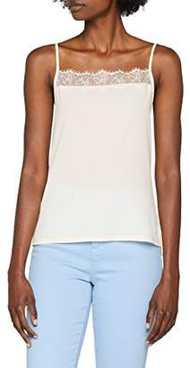 2c37f72e45519 French Connection Women s Polly Plains Strappy CAMI Regular Fit Plain Vest  Top