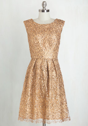 Decode 1.8 Fun One Like You Dress in Gold $169.99 thestylecure.com