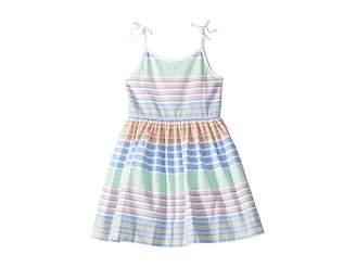 Polo Ralph Lauren Striped Cotton Oxford Dress (Little Kids)