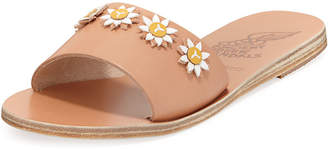 Ancient Greek Sandals Paolo Leather Flower Slide Sandal