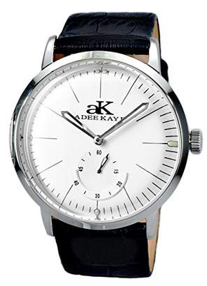 Adee Kaye Men's Vintage Slim 41.89mm Steel Case Automatic Watch Ak9044-Mwt-Lb