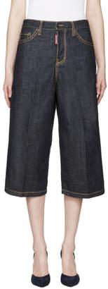 DSQUARED2 Blue Denim Wide-Leg Trousers