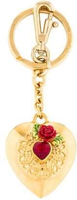 Dolce & Gabbana Heart Embellished Keychain