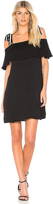 Bobi BLACK Tie Shoulder Dress