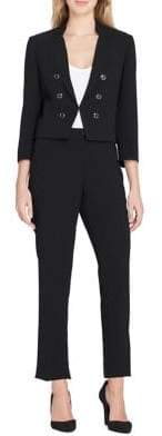 Tahari Arthur S. Levine Short Military Wing Jacket and Pant Suit