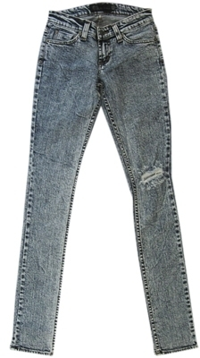 Jet by John Eshaya - Women's Busted Knee Skinny Acid Wash Jeans