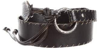 Henry Beguelin Wide Leather Belt