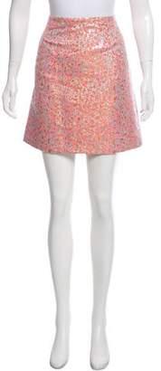 Tara Jarmon Metallic Mini Skirt w/ Tags