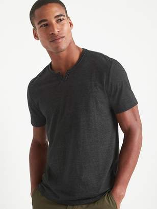 Gap Short Sleeve Notch T-Shirt