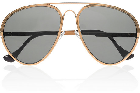Finest Seven Zero 01 rose gold-plated aviator sunglasses