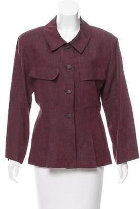 Chanel Pleated Linen Jacket