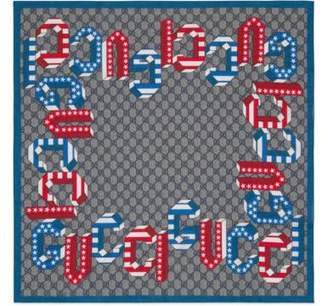 Gucci Children's GG stars and stripes print scarf