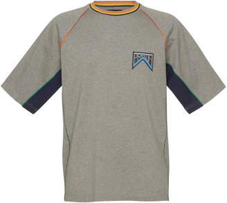 Prada Grey Raglan-Sleeve Pique T-Shirt