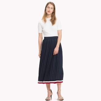 Tommy Hilfiger Pleated Midi Skirt