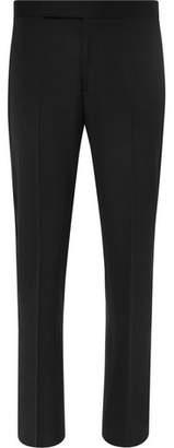 Ralph Lauren Purple Label Black Gregory Satin-trimmed Wool Tuxedo Trousers - Black