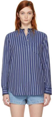 A.P.C. Blue Striped Ruby Shirt