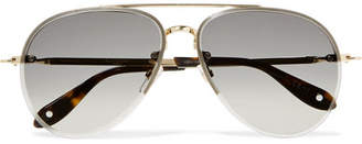 Givenchy Aviator-style Gold-tone Sunglasses