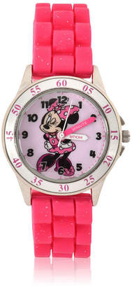 DISNEY MINNIE MOUSE Disney Minnie Mouse Unisex Pink Strap Watch-Mnh9006jc