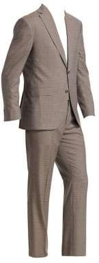 Saks Fifth Avenue COLLECTION Crosshatch Two-Button Wool Suit