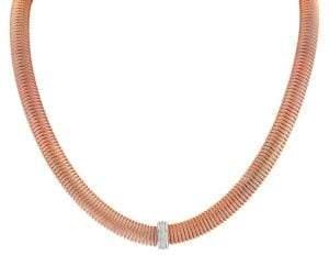 Alor Kai 18K White Gold, Rose-Tone Stainless Steel & Diamond Necklace