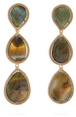 Rosantica By Michela Panero - Scarabeo Drop Earrings - Womens - Green