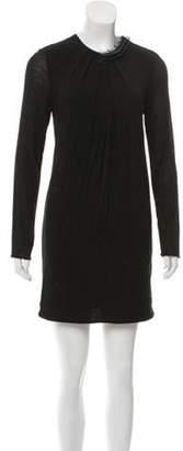 3.1 Phillip Lim Wool-Blend Mini Dress Black Wool-Blend Mini Dress