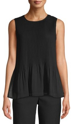 Time and Tru Pleated Tank Top Women's