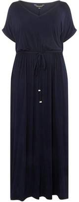 Dorothy Perkins Womens **DP Curve Navy Jersey Maxi Dress