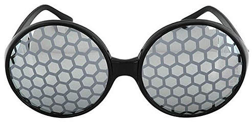 Black & Smoke Bug Eye Dress-Up Glasses