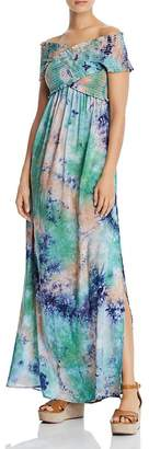 Aqua Smocked Tie-Dye Maxi Dress - 100% Exclusive