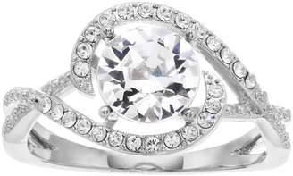 Brilliance+ Brilliance Round Pave Ring with Swarovski Crystals