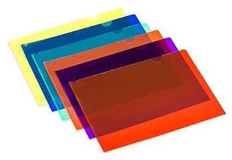 clear Lightahead® Lightahead LA-7555 document Folder, A4 size, Set of 12 in 6 assorted Colors, Blue, Green, Orange, Yellow, Purple, Maroon