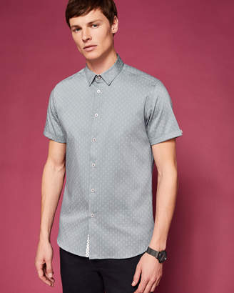 Ted Baker FRANKO Printed textured cotton shirt