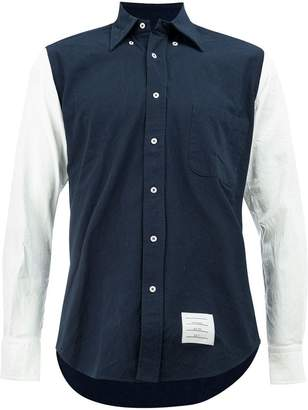 Thom Browne contrasting button-down shirt