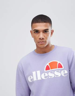 Ellesse Sweatshirt With Large Logo In Lilac