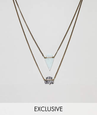 Reclaimed Vintage inspired layered necklaces with semi precious stones exclusive at ASOS