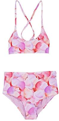 Submarine Kids' Candy-Heart-Print Two-Piece Swimsuit