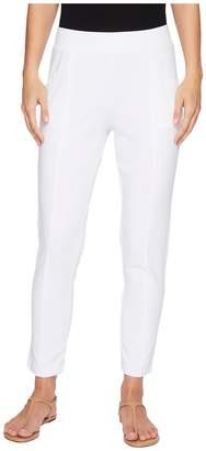 Mod-o-doc Soft As Cashmere Cotton Interlock Raw Edge Seamed Ankle Length Pants Women's Casual Pants