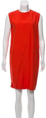 Cédric Charlier Sleeveless Shift Knee-Length Dress Orange Sleeveless Shift Knee-Length Dress