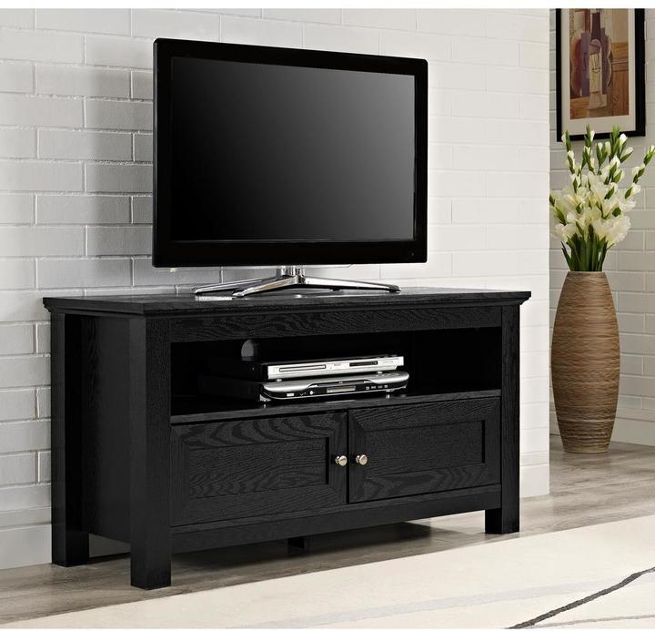 """Walker Edison Furniture Company 'Cortez 44"""" TV Console - Black"""