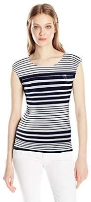 Calvin Klein Women's Printed Top With Zipper