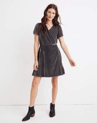 Madewell Velvet Wrap Dress