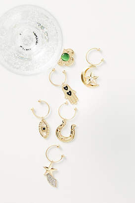 Anthropologie Lucky You Wine Charms, Set of 6