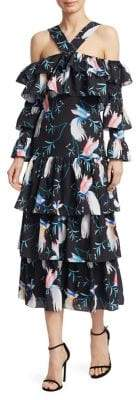 Borgo de Nor Sandra Tiered Floral Midi Dress